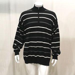 Paul & Shark Men's Black Striped Pullover Sweater